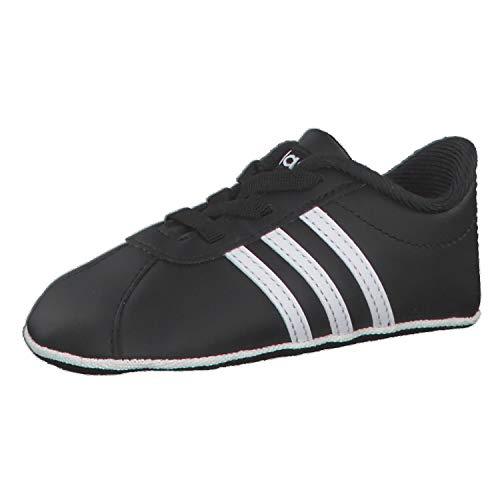 adidas Unisex Baby Vl Court 2.0 Crib Sneaker, CBLACK/FTWWHT/FTWWHT, 21 EU