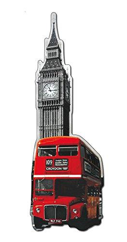 Artopweb wandplaten vorm Londen bus Quadro, hout, meerkleurig, 31 x 1,8 x 83 cm