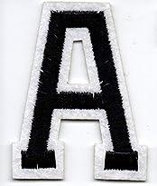 A – Buchstabe; Aufnäher/Patch mit Bügel-Klebe-Fläche zum fixieren