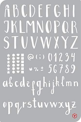 Schablone Vorlage Bullet Journal Alphabet Buchstaben 18x12cm Schrift Kalender selber zeichnen