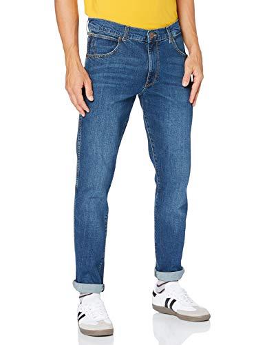 Wrangler Larston Jeans, Blu Fumo, 31W x 34L Uomo