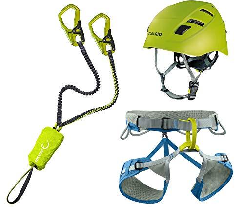 EDELRID Klettersteigset Cable Kit 5.0 + Gurt Größe M + Kletter-Helm