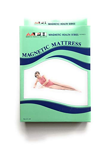 Poly Magnetic Mattress Pad - Quilted Mattress or Mattress Topper for Travel and Pain Relief - Lightweight