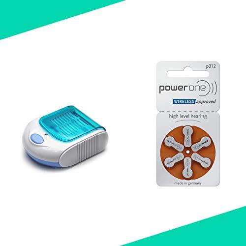 Audioactive Pack para audífonos deshumidificador y 30 pilas 312 POWERONE