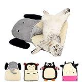 MYIDEA Sisal Plush Cat Scratch Pad - Handmade Hemp Resting Pad Mat for Cat or Kitten with Bells (Cat Scratch Pad, Elephant)