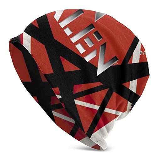 Van Halen The Best of Both Worlds Adult Knit Hat Casual Beanie Hat Autumn and Winter Warm Unisex Light Knit Hat,Hip Hop Hat Black