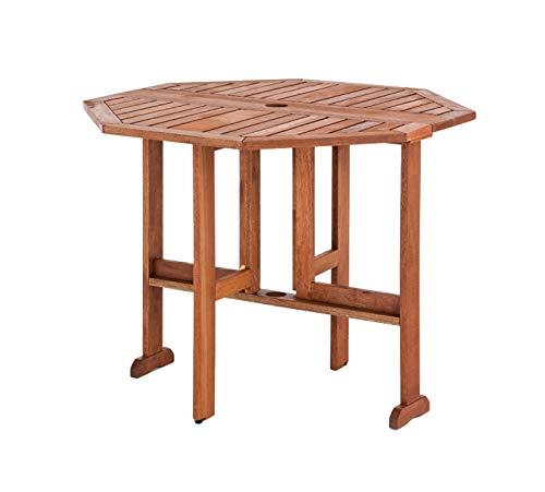 武田コーポレーション 南国家具 【バタフライ・ガーデン・南国風・テーブル】 折りたたみテーブル 90.5×71.5 ブラウン MA-T6