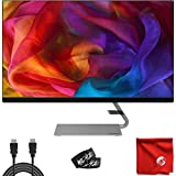 Lenovo 27' IPS LED 2K QHD FreeSync Ultra-Slim Natural Low Blue Light Monitor (Q27q-1L) Antiglare 4ms 75Hz Built-in Speakers 2560x1440 Bundle with Cable Ties and Microfiber