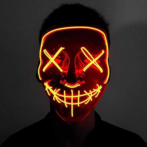 Shop-Story Mask The Purge - Máscara LED de la película de horror