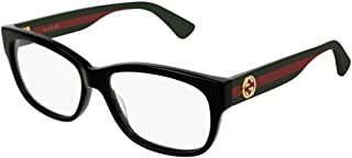 Gucci GG 0278O 011 Black Plastic Rectangle Eyeglasses 55mm, 55-15-145