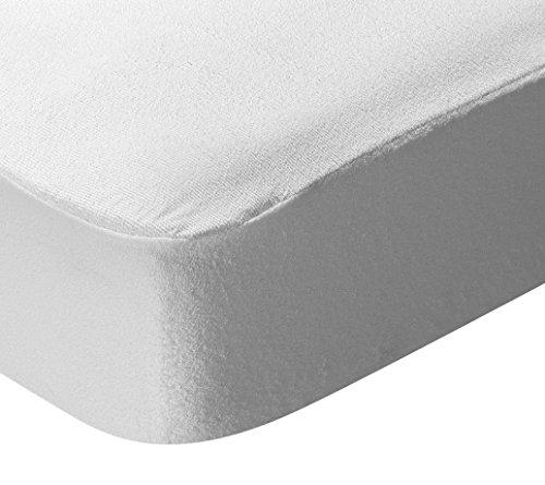 Pikolin Home - Protector de colchón de algodón de rizo con tratamiento Triple barrera antialérgico impermeable y transpirable