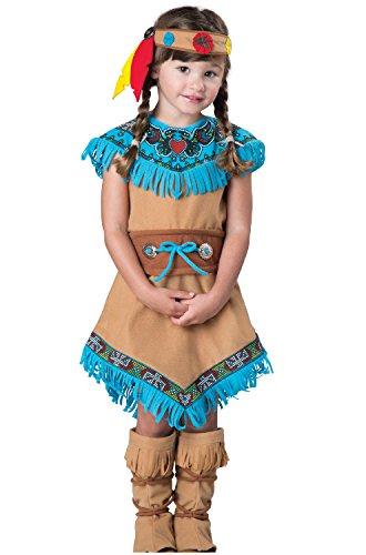 Fun World Women's Indian Girl Costume, Tan, XS