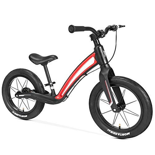 QMMD Bicicleta de Equilibrio 14 Pulgadas para Niños de 3-7 años Bicicleta...