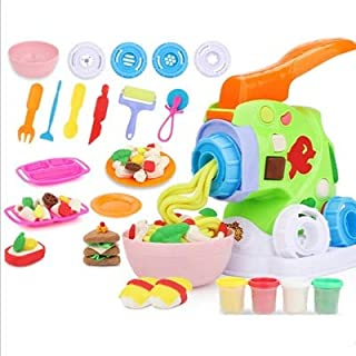 Play Food, Plastic Kids Play Food, DIY Pasta Machine Non-toxic Pretend Play Food for Pretend Role-playing Giftst play Puzz...