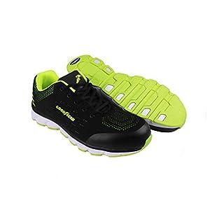 417lKdI5MSL. SS300  - Goodyear Workwear GYSHU1571 - Zapatillas de seguridad para hombre (metal, sin compuesto), 4 UK, negro/verde, 1