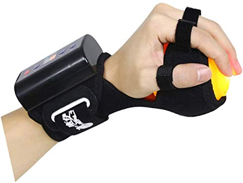 Anti Spasticity Ball Finger Grip Ball Wrist Orthosis and Finger Orthosis, Splint Hand Hemiplegia Rehabilitation Training Hand Adjustable Finger Wrist Orthotics Training Device, D