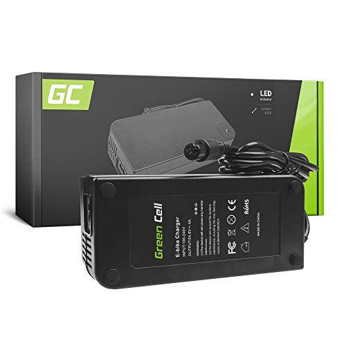 Green Cell® Cargador (54.6V 4A 218W) para Kettler Kreidler Kross Liberty Lovelec...