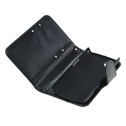 Mobilfunk Krause - Book Hülle Etui Handytasche Tasche Hülle für Samsung GT-S5220 / S5220 (Schwarz)