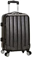 Rockland Santa Fe Hardside Spinner Wheel Luggage, Carbon, Carry-On 20-Inch