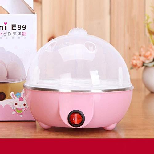 CDFD Multifunktionale ElektrokesselEierkocher 7 Eier Kapazität Auto-OffEierkessel Dampfgarer Kochwerkzeuge, Pink