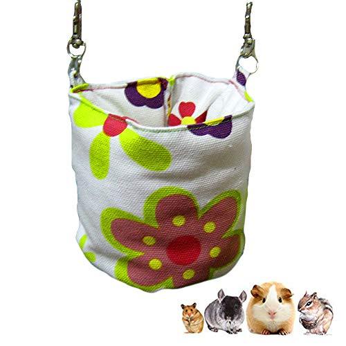 Eimer-Form-Hamster-Schlafsack, Winter-warme gemütliche Sugar Glider-Hängematte, kleines Haustier-Käfig-Zusatz-Plüsch-hängendes Bett für Papageien-Sugar Glider-Frettchen-Ratten-Hamster