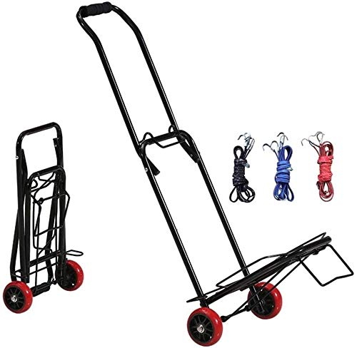 Trolley Folded Trolley, Heavy-Duty Luggage car, Portable Folding Trolley, Compact and Light Luggage,Black