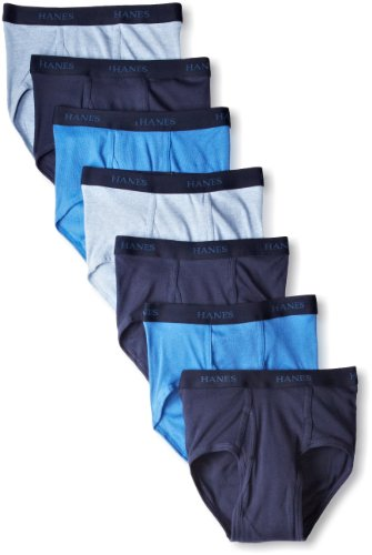 Hanes Ultimate Men's Comfort Flex Waistband Briefs-Multipacks, Blue Assorted 7-Pack, Large