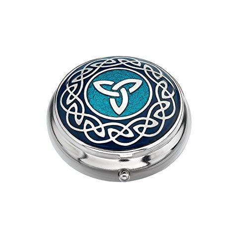 Sea Gems Pastillero Chapado en Plata Celta Trinity Nudo Azul Caja