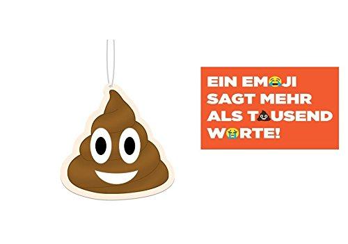Emoji Lufterfrischer fürs Auto 3er Set & Postkarte
