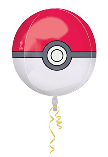 amscan 2946401 Folienballon Pokéball, verschieden