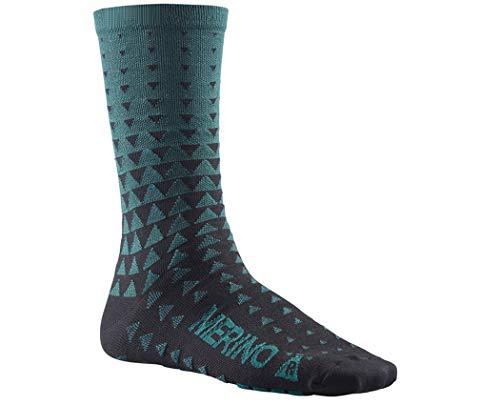 Mavic Ksyrium Merino Graphic Sock Majolica Blue, S - Men