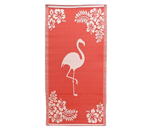 zeitzone Strandmatte Groß Flamingo Rot Outdoorteppich Picknickdecke Campingmatte 180x90cm