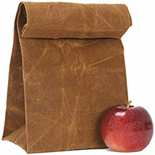 Lunch Bag -Natural Waterproof Handmade , reusable Waxed Canvas Unique Lunch Box, Picnic Bag, School Bag for Men Women Ladies Girls Children Kids Student – Pari Creations