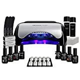 kit semipermanente unghie professionale • 6 smalti primer base top coat fornetto led nail art • kit ruby