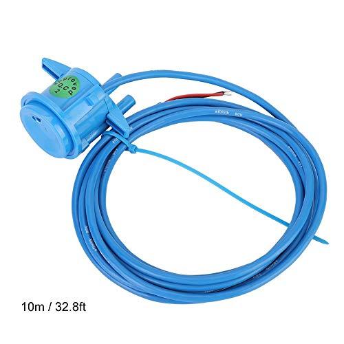 TOPINCN Válvula Solenoide Medidor Leche Digital Suministros Ordeño Electrónico para Sistema Sala de Ordeño Interior Botella Medidora con Cable 10 m