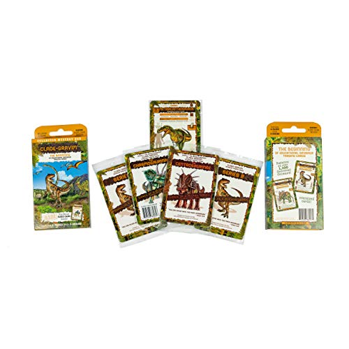 Trading Cards for Boys Collector Mystery Box Educational Dinosaur 4 Packs from 3 Series Clade-Gravim Adults Girls