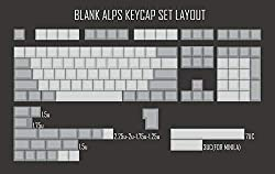 top rated XDA ALPS blank keycap blank for ALPS mechanical keyboard white gray gh60 poker xd64xd60xd68… 2021