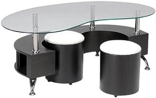 Table Basse Avec Tabouret.Amazon Fr Table Basse Pouf