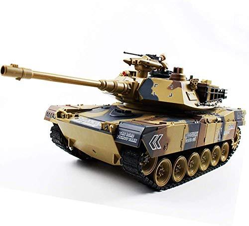 WANGCH 1/18 Tanque de Gran tamaño 2.4G Tanque de Batalla RC Se Puede lanzar Huevo Modelo Militar Vehículo Todoterreno Recargable Tubo de Pistola de Metal Tanque de Batalla de Juguete sobre orugas