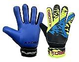 Kobo Furon 6.5 Latex Football Goal Keeper Gloves (Blue)