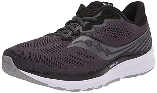 Saucony Men's Ride 14 Running Shoe, Charcoal/Black, 9 Wide