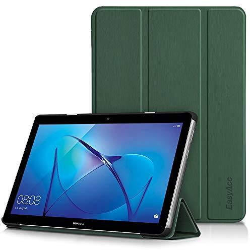 EasyAcc Hülle für Huawei Mediapad T3 10 Hülle, Ultra Schlank Schutzhülle Hülle mit Zwei Einstellbarem Standfunktion Für Huawei MediaPad T3 10 (9,6 Zoll), Dunkelgrün