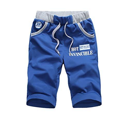 Shorts Men's Summer Fashion Shorts sportbroek Loose Outdoor Adventure Shorts Black/Army Green (Color : Blue, Size : XL)
