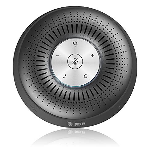 TOALLIN Konferenzlautsprecher mit 4 Mikrofonen, Bluetooth-Freisprecheinrichtung, 360º-Sprachaufnahme, tragbare USB-Freisprecheinrichtung für Smartphones, Laptops & Desktops
