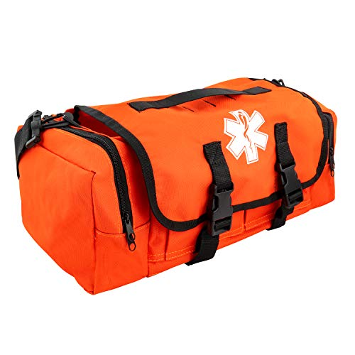 LINE2design First Aid Medical Bag - EMS EMT Paramedic Economical Tactical First Responder Trauma Bag Empty - Portable Outdoor Travel Jump Rescue Bags – Orange