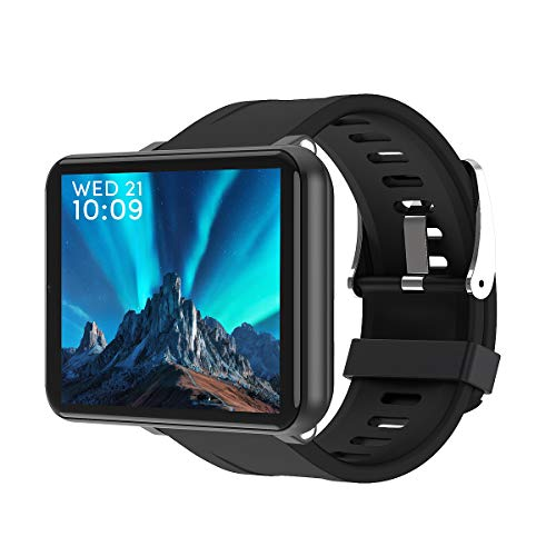 Greetuny Pantalla LCD 2.8 Pulgadas, WiFi 4G Smartwatch, Español Reloj con Tarjeta SIM/3G (RAM),32GB(ROM)/Payments App/Play Store/Cámara/Localizar,IP67 Pulsera Actividad Inteligente para Hombre