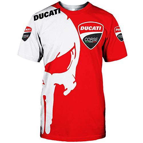 NISHUSHANW 3D Voll Drucken Hoodies,T-Shirt,Jacke,Hose Kurz Zum Ducati Punisher Beiläufig Leicht Sweatshirt Sportkleidung Abtragen / Red3 / XXL