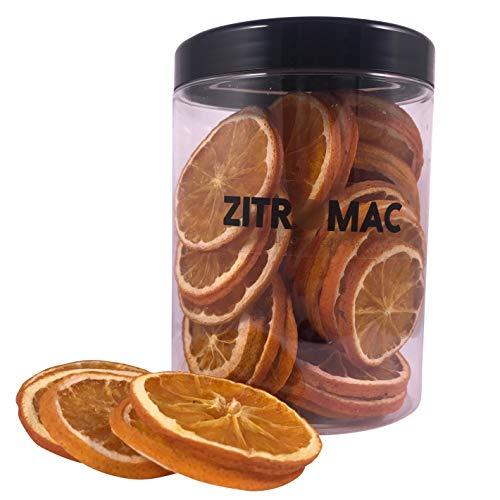 Getrocknete orangenscheiben, Trockenfrüchte für Cocktails, Orange dehydriert als Deko für Getränke/Dekokranz/Weihnachten, Qualität orange 100% natürlich, großes Vorratsglas