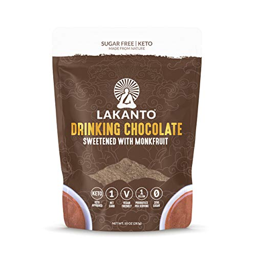Lakanto Sugar-Free Drinking Chocolate, Hot Cocoa with Probiotics, Keto (10 Ounce)