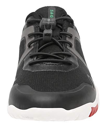 SAGUARO Zapatos Descalzo Hombre Mujer Calzado de Trail Running Antideslizante Zapatillas Deportes Ligero para Correr Fitness Gimnasio Asfalto Senderismo Caminar, 069 Negro, 42 EU
